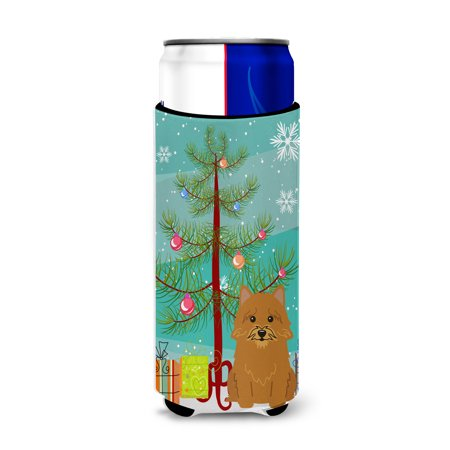 Merry Christmas Tree Norwich Terrier Michelob Ultra Hugger for slim cans BB4145MUK