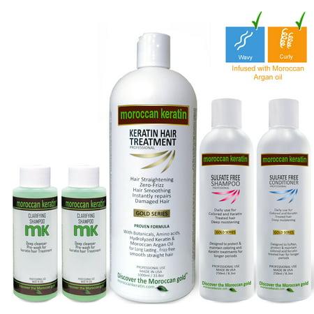 Moroccan Keratin 1000ml SET Most Effective Brazilian Keratin Hair Treatment Professional Salon Results at