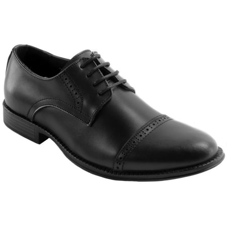 Alpine Swiss Arve Mens Genuine Leather Oxford Dress Shoes Lace Up Brogue Cap Toe Bates Mens Leather Oxford