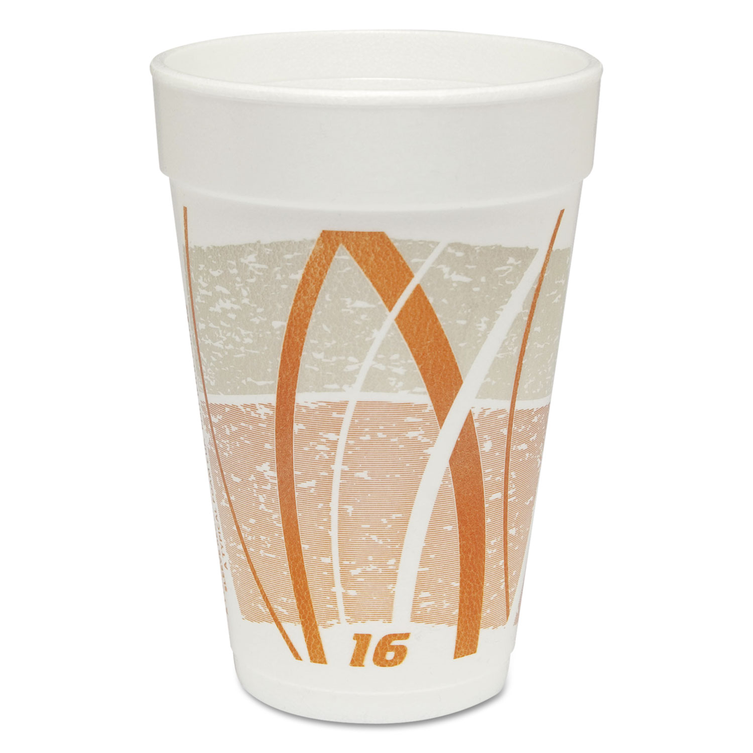 Impulse Hot/Cold Foam Drinking Cup, 16oz, Flush Fill, Orange/Gray, 25/BG, 40/CT