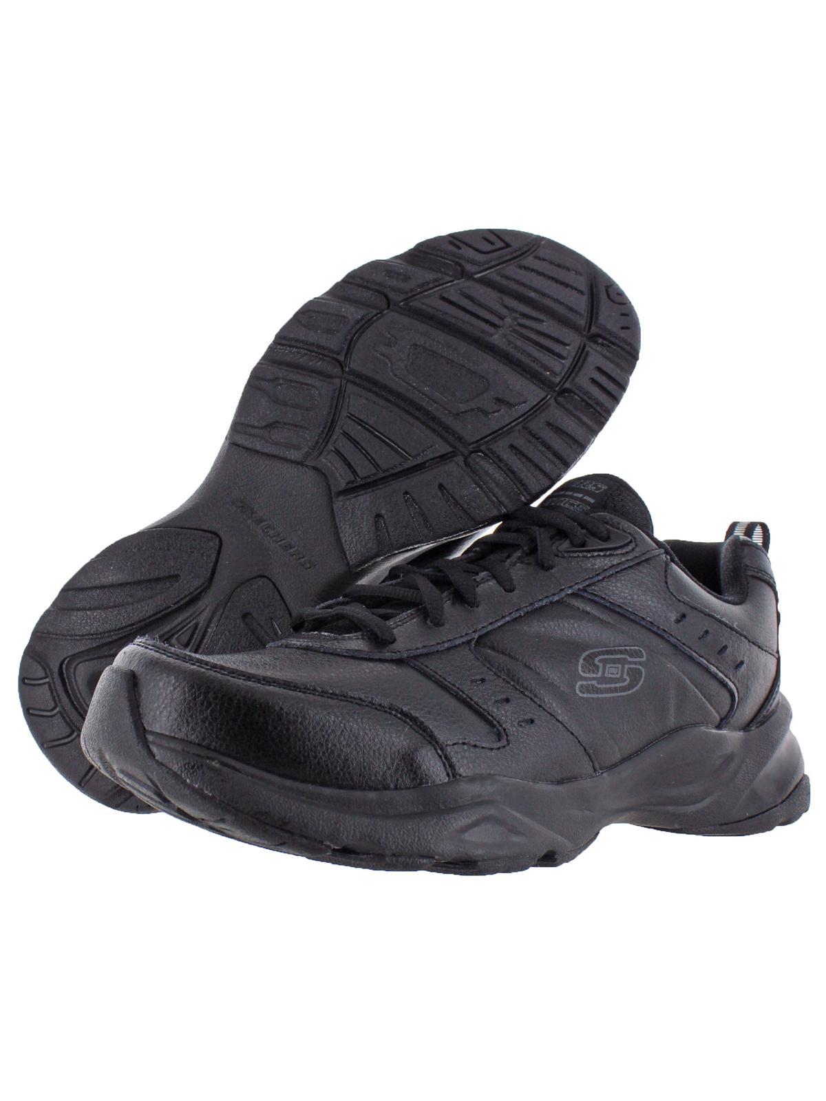 cojo Pórtico niebla  Skechers - Skechers Mens Haniger Leather Memory Foam Running Shoes -  Walmart.com - Walmart.com