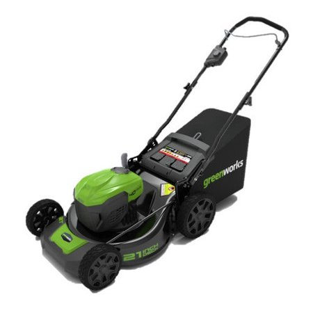 "Greenworks G-MAX 40V 21"" Self-Propelled Dual Port Mower, Battery and Charger Not Included 2506602"