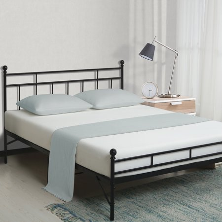 Best Price Mattress 12 Inch All-in-One Easy Setup Metal Platform Bed w/Steel slats and