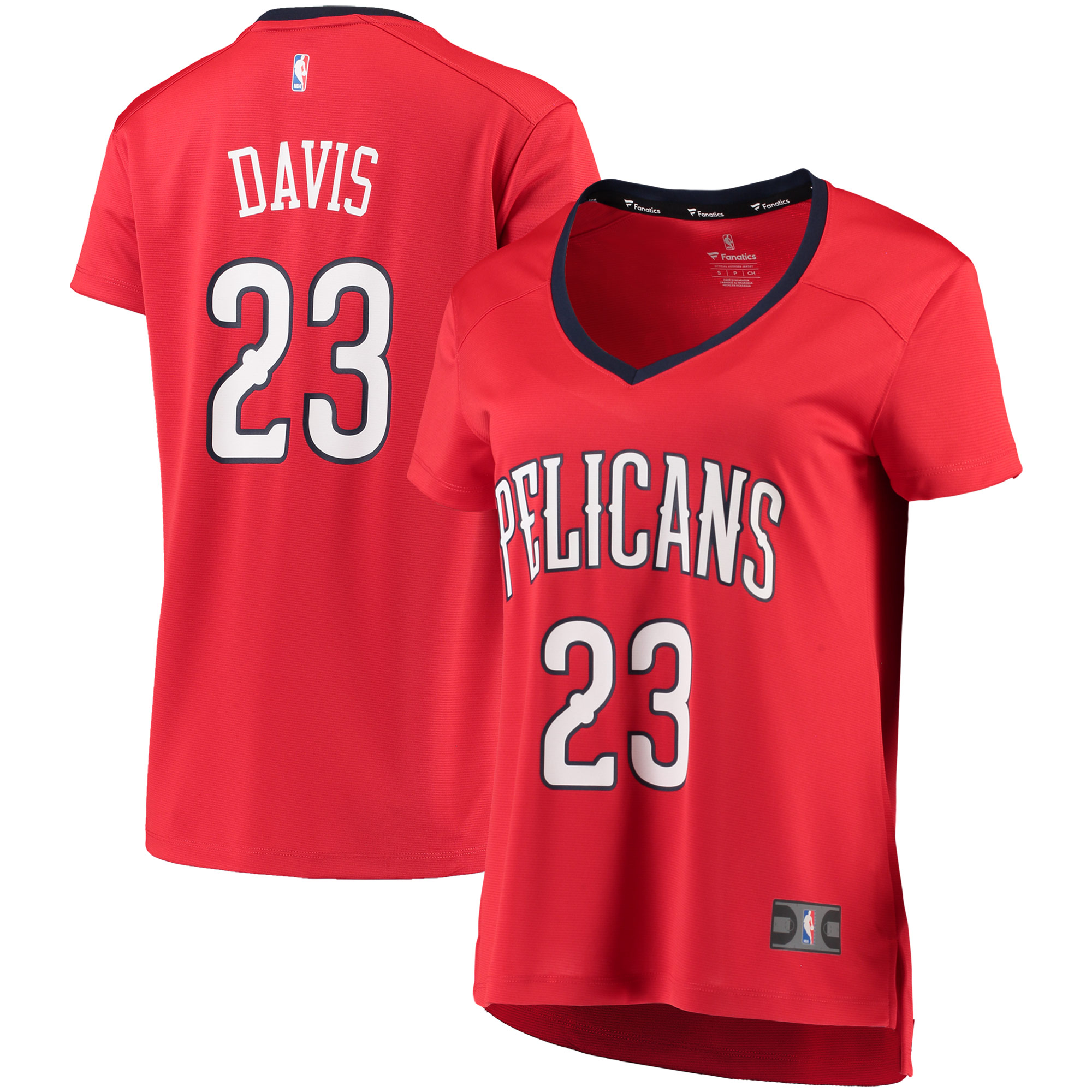 Anthony Davis New Orleans Pelicans Fanatics Branded Women's Fast Break Replica Statement Edition Jersey - Red