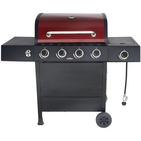 RevoAce 4-Burner Gas Grill with Side Burner, Red Sedona,