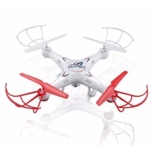 AKASO X5C 4CH 2.4GHz 6-Axis RC Quadcopter with HD Camera, Gyro Headless, 360-degree 3D Rolling Mode 2 RTF RC Drone - X