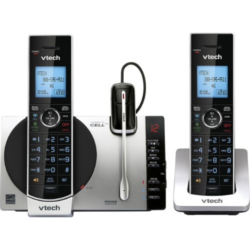 VTech DS6771-3 2 Handset Connect to Cell Answering System with Cordless Headset by VTech
