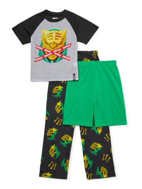 Fortnite Boys Exclusive 4-14 Short Sleeve Top, Short & Pant, 3-Piece Pajama Set