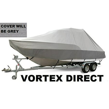 VORTEX HEAVY DUTY GREY / GRAY T-TOP CENTER CONSOLE BOAT COVER FOR 29' -30' BOAT (FAST SHIPPING - 1 TO 4 BUSINESS DAY DELIVERY)