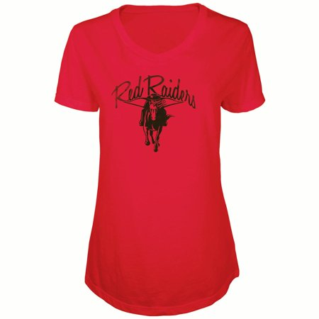 Tech Red Raiders Pool Table (Women's Russell Red Texas Tech Red Raiders Distressed V-Neck Tunic T-Shirt)