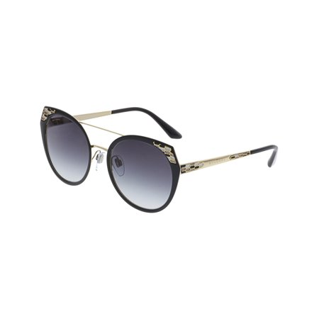 Bvlgari Women's Gradient BV6095-20248G-53 Black Round Sunglasses