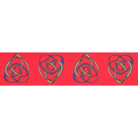 (Country Brook Design® 5/8 Inch Celtic Motherhood Knot Grosgrain Ribbon Closeout, 5 Yards)