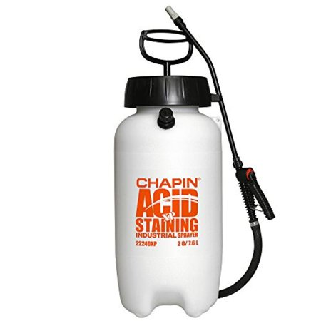 Chapin 22240XP 2-Gallon Industrial Acid Staining Sprayer with Pressure Relief Valve For Acid Staining and Acid
