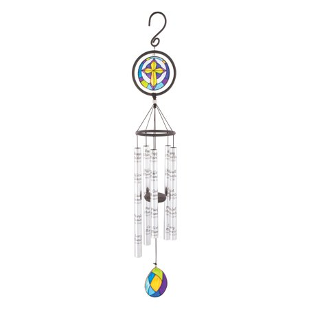 Carson 35 in. Stained Glass Sonnet Moments Wind Chime