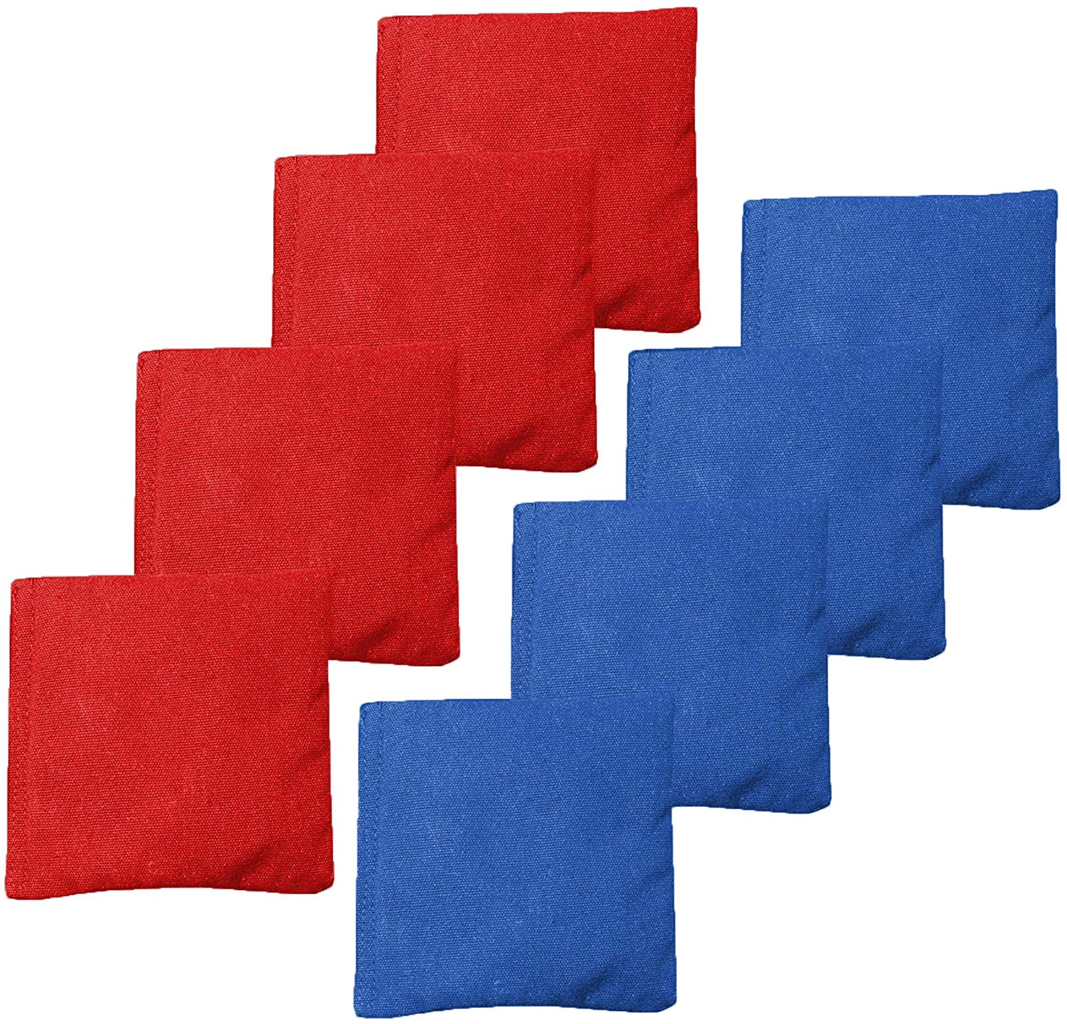 Corn Filled Cornhole Bags Regulation Size /& Weight Set of 8 Duck Cloth Bean Bags for Corn Hole Game