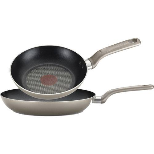 T-Fal Excite 2 Piece Frying Pan Set Champagne by T-FAL