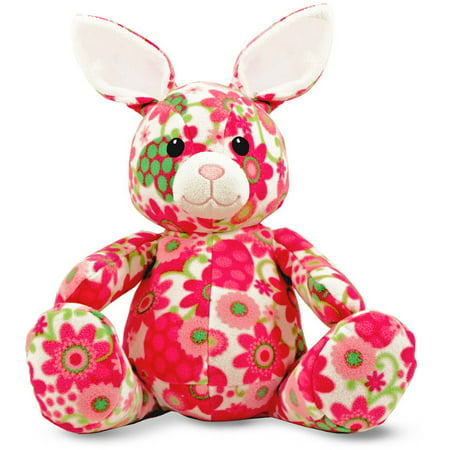 Melissa   Doug April Bunny   Patterned Pal Stuffed Animal Rabbit