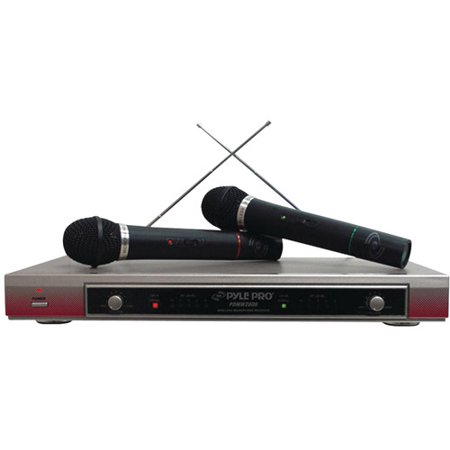 pyle pro pdwm2000 dual vhf wireless microphone system. Black Bedroom Furniture Sets. Home Design Ideas