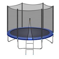 INCLAKE Trampoline with Safety Enclosure Net,10 FT Exercise Trampoline with Jumping Mat and Spring Cover Padding, 661lbs Weight Limit for Kids and Adults, Indoor Outdoor Fitness Backyard Trampolines