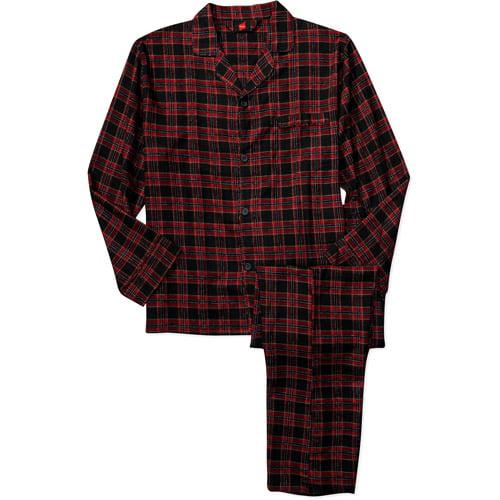 Hanes - Men's 2-Piece Plaid Flannel Pajamas