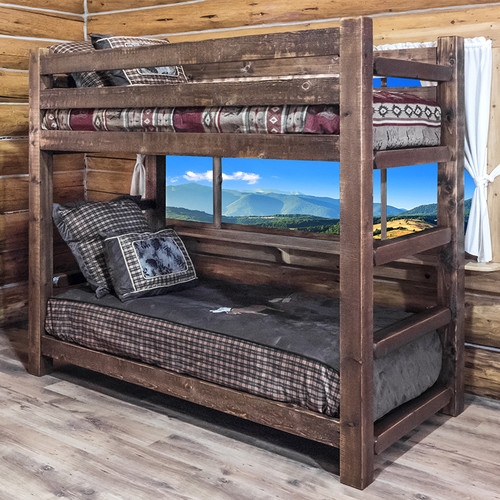 Hand-Crafted Twin Bunk Bed