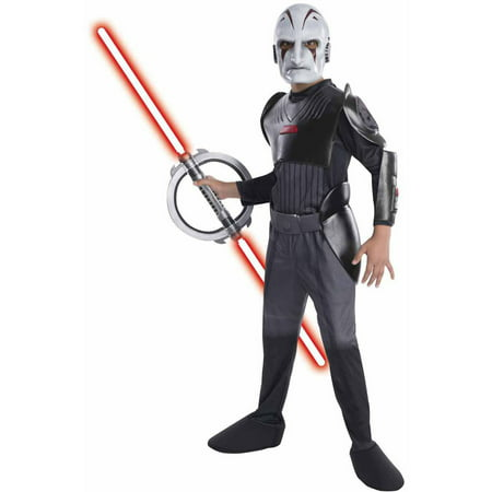Star Wars Rebels Deluxe Inquisitor Boys' Child Halloween Costume](Star Wars Rebel Pilot Costume)