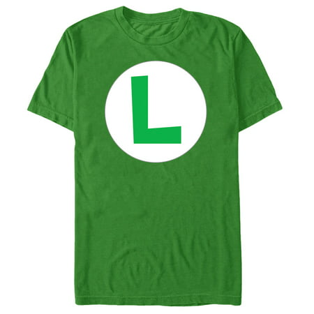 - Nintendo Men's Luigi Circle Icon T-Shirt