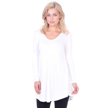 7054cda68d1619 TagUnder - Women's Tunic Long Sleeve V-Neck Shirt in Regular and ...