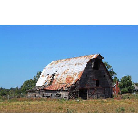 Canvas Print Fading History Barn Tin Roof Stretched Canvas 10 x 14