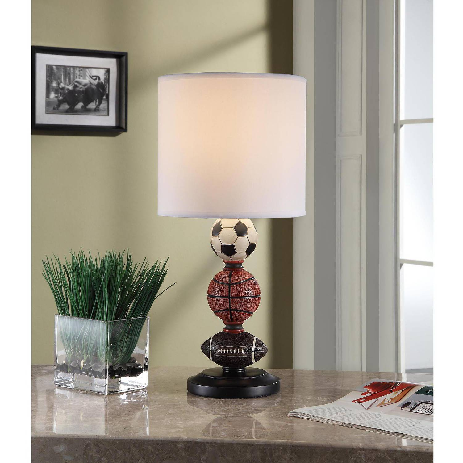 ... Your Zone Sports Table Lamp With CFL Bulb