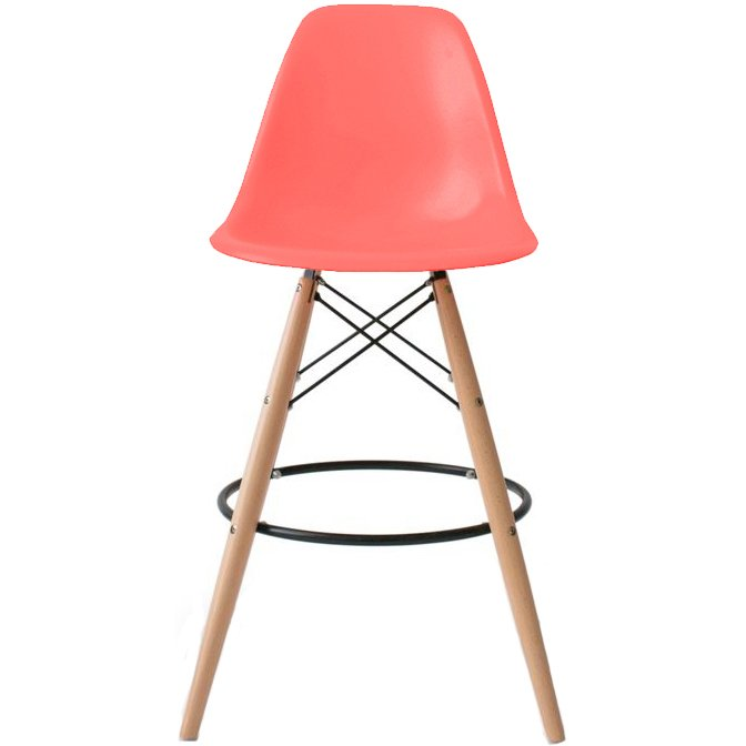 2xhome Pink 28 Quot Seat Height Modern Eames Style Bar
