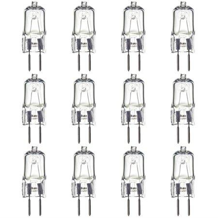 Gy6 35 Bulb (12 Pack Sunlite Halogen 35 Watt Single Ended T3.5 GY6.35 Base 120V Clear Light)