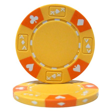 Yellow - Ace King Suited 14 Gram Poker Chips