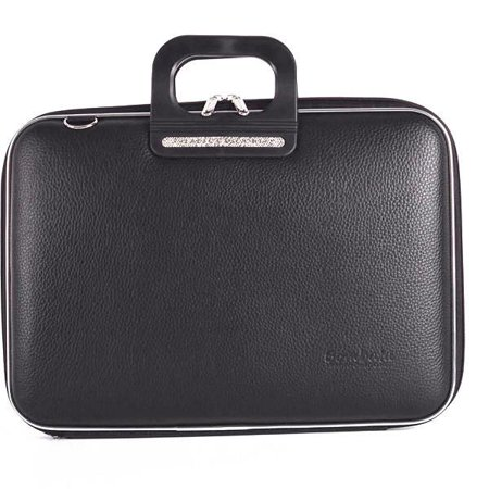 Lightweight Lined Briefcase - Firenze Classic 15-Inch Briefcase (Black)