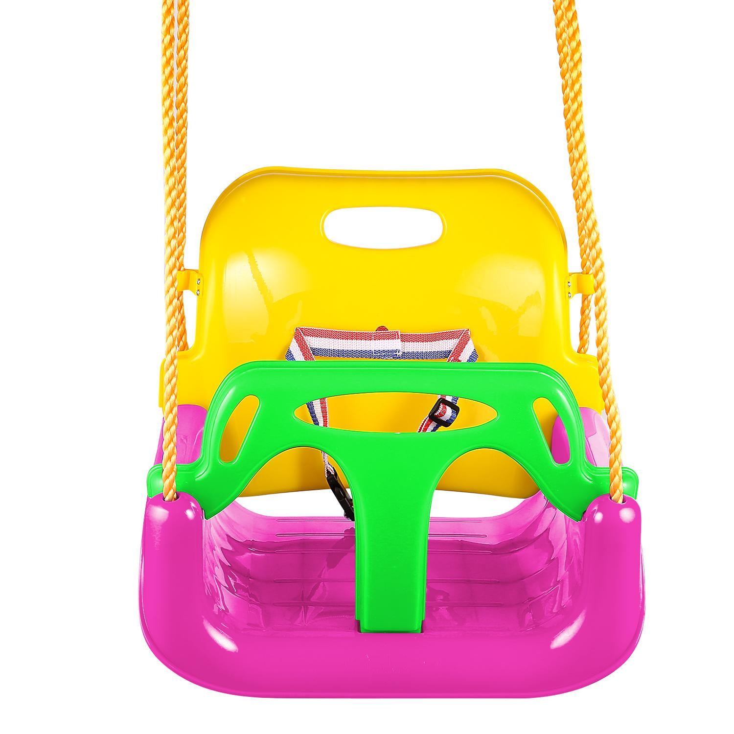 3 in 1 Swing Seat, Baby High Back Full Bucket Swing Seat with Heavy Duty Chains