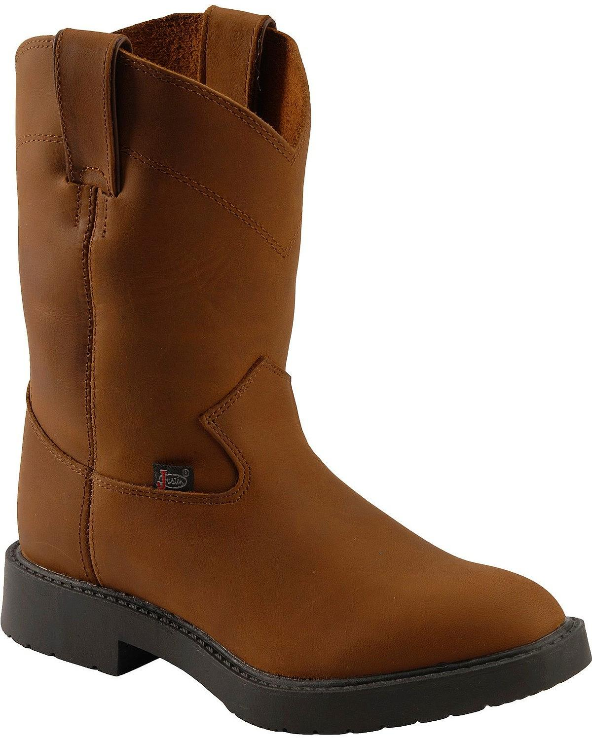 Justin Boots Aged Bark ( Youth   Toddler ) by Justin Boots