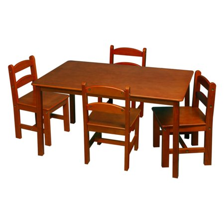 Gift Mark Rectangle Table and Chair Set - 5 Piece (Kidkraft Farmhouse Table And Chair Set Espresso)