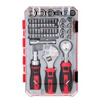 Hyper Tough 38 Piece Stubby Wrench and Socket Set UJ80989A