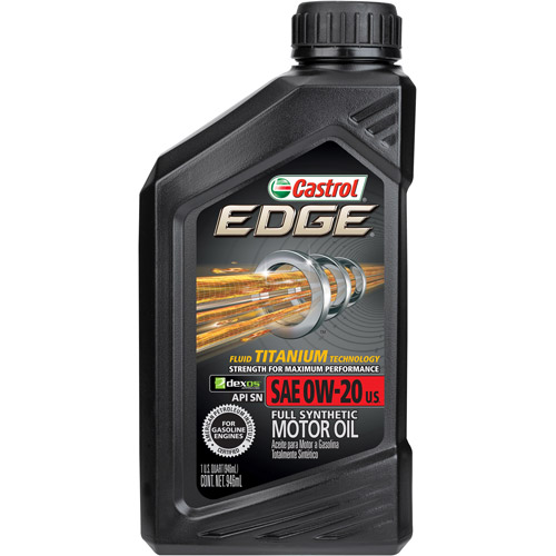 Castrol EDGE 0W-20 Full Synthetic Motor Oil, 1 QT by Castrol