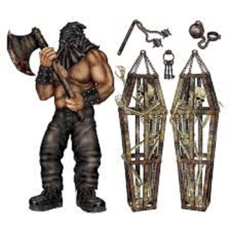 Club Pack of 72 Executioner and Skeleton Cage Insta-Theme Halloween Prop - Halloween Insta Theme
