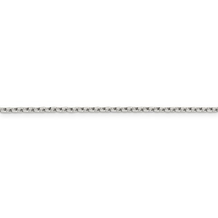 Sterling Silver 2mm Beveled Oval Cable Chain Necklace Pendant Charm Fashion Jewelry For Women Gifts For Her - image 3 de 9