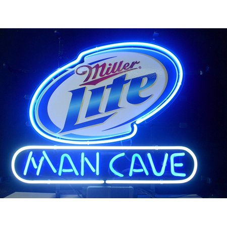 "Desung Brand New Miller Lite Man Cave Neon Sign Lamp Glass Beer Bar Pub Man Cave Sports Store Shop Wall Decor Neon Light 17""x 13"" WM60"