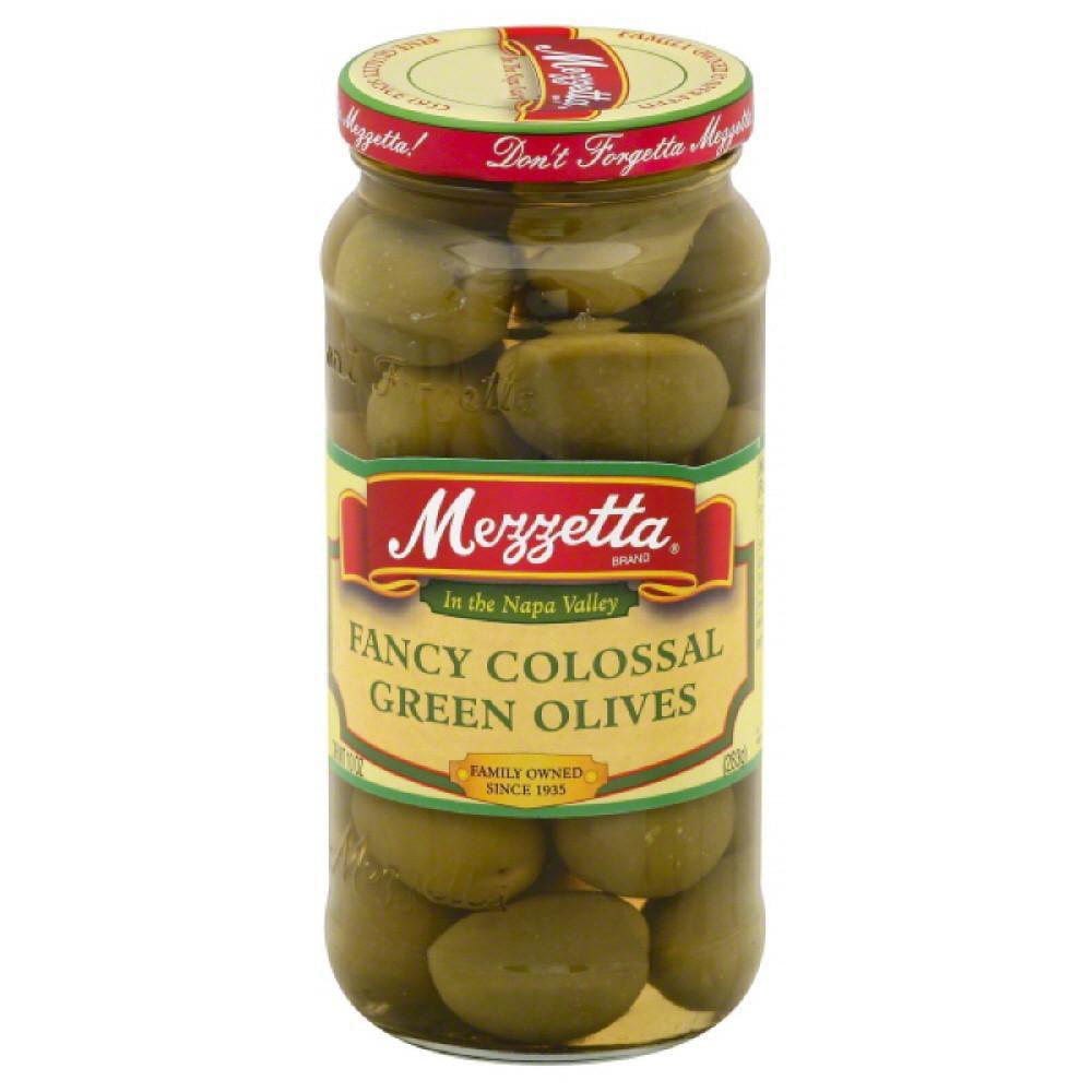 Mezzetta Fancy Colossal Green Olives, 10 Oz (Pack of 6)