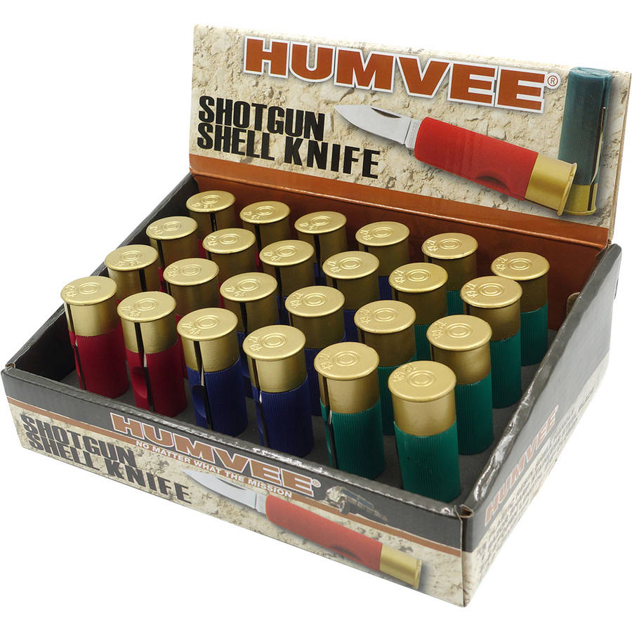"Folding Shotgun Shell Knives with 24-Piece Display, Humvee, 1.5"" Blade"