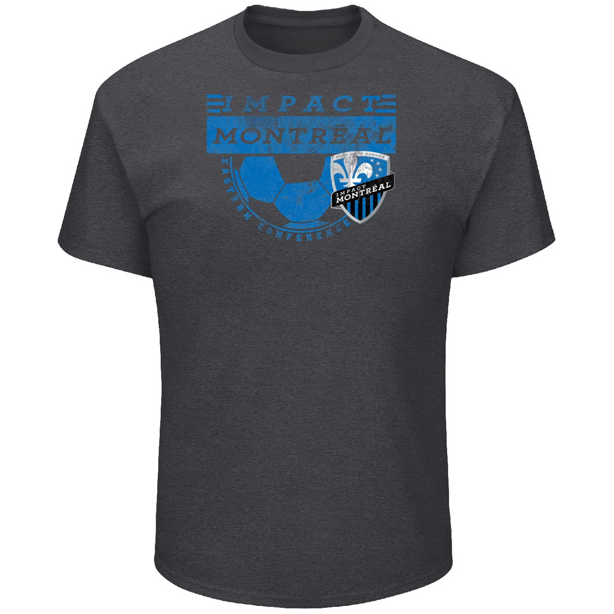Montreal Impact Majestic Big & Tall Every Minute T-Shirt - Charcoal