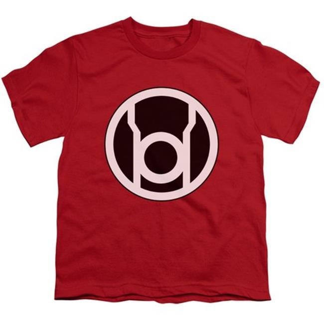 Green Lantern-Red Lantern Logo Short Sleeve Youth 18-1 Tee, Red - Large