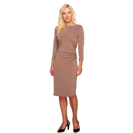 George Simonton Jersey Knit Reg Grecian Ruched Dress A240766 Jersey T-shirt Dress