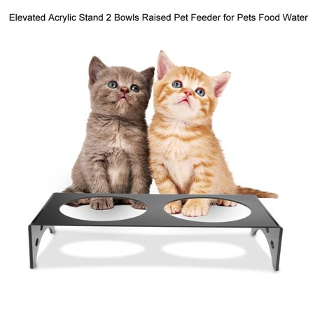 Yosoo Elevated Dog Bowls Raised Pet Feeder Cat Food Water Diner Stand