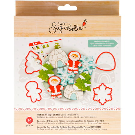 American Crafts Sweet Sugarbelle Cookie Cutter Set 14/Pkg-Winter (Cookie Craft)