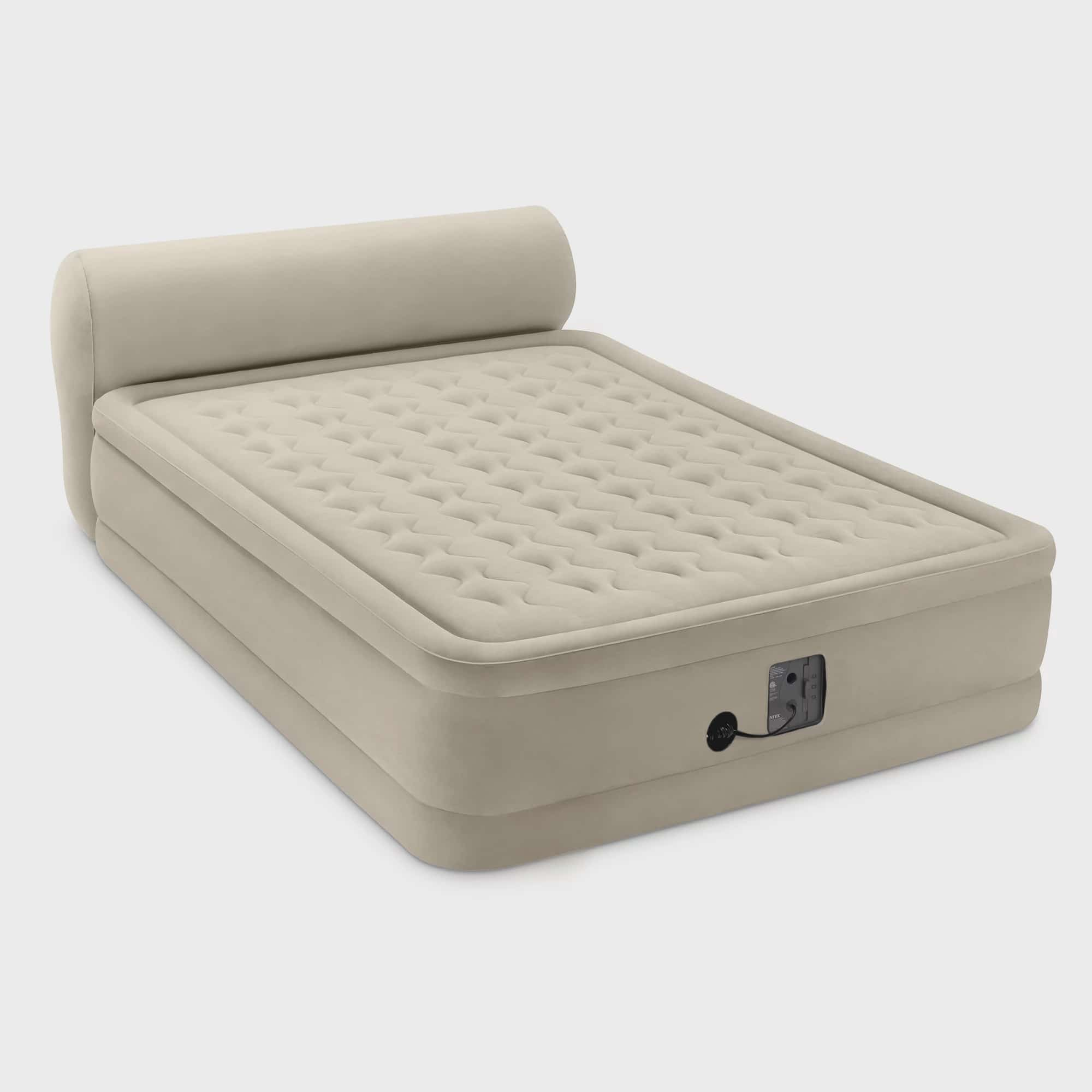 Insta-Bed 18 Inch Queen Sized Inflatable Airbed Mattress with Internal AC Pump